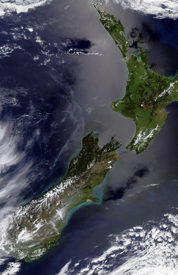 1 satellite view of new zealand stocktrek images