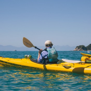 kayaking in the beautiful abel tasman national park