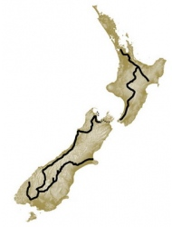 New zealand hiking guide book