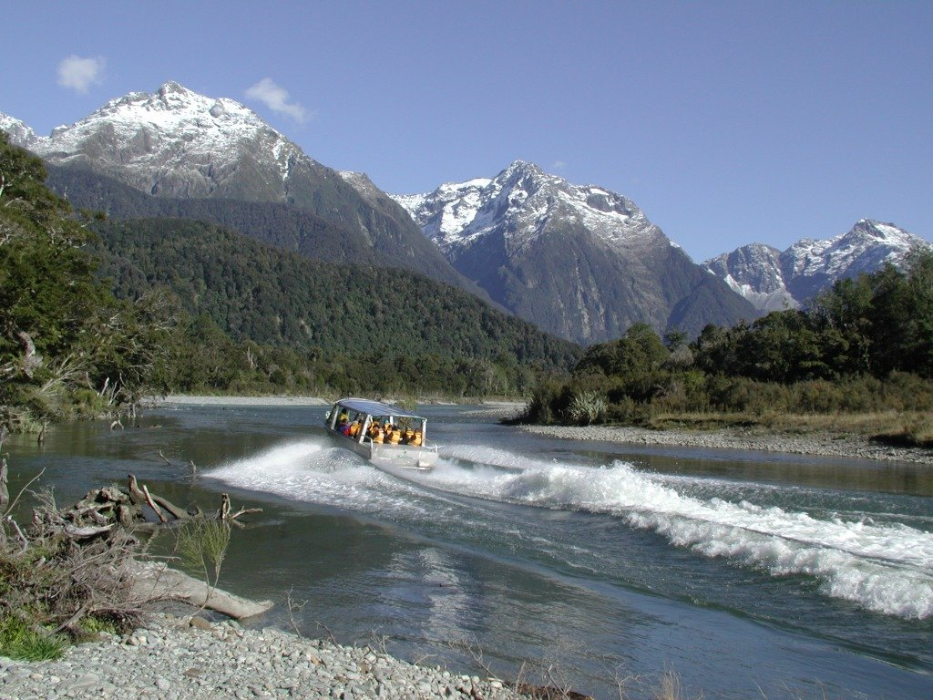 Exploring the Hollyford River the adrenaline way