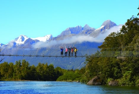 HFT Pyke River Swingbridge Fiordland s Longest Swingbrid RT