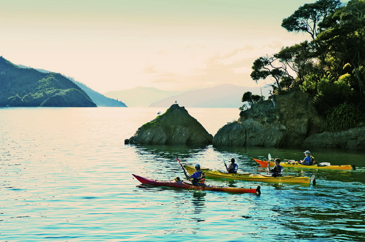 Kick start your morning with a paddle on the calm waters of the Sounds