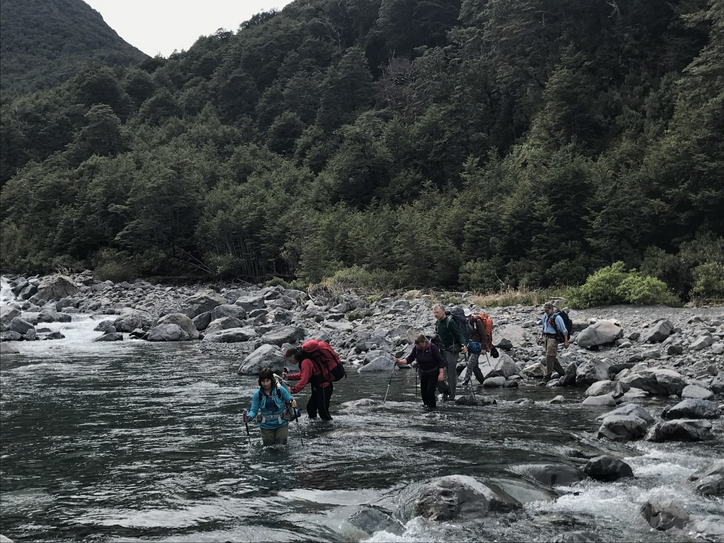 New Zealand back-county routes (non Great Walks) have plenty of river crossings.