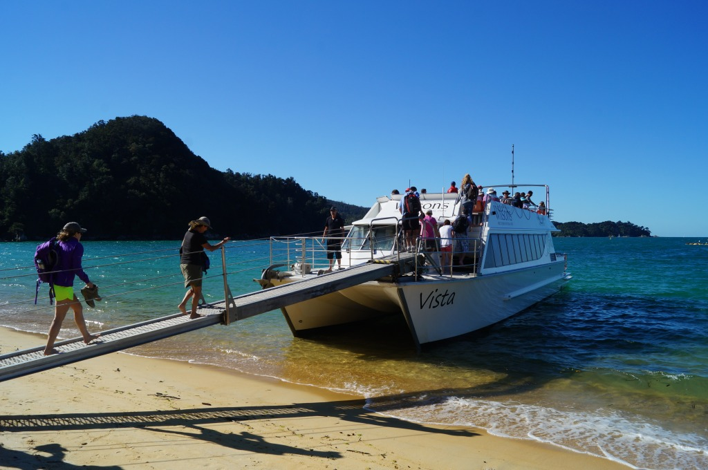 Water taxis ply the Able Tasman National Park coast; pick just the best stretches of trail to hike.